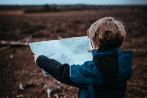 boy and map
